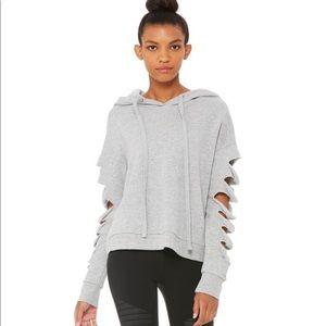 Alo Slay Sweatshirt NWOT Dove Grey Heather